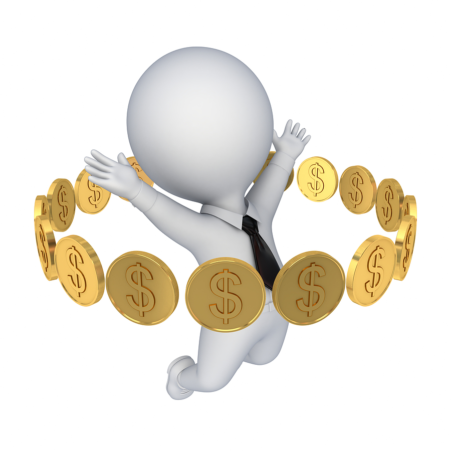 bigstock Golden coins around happy d s 34590617 Storvinnare